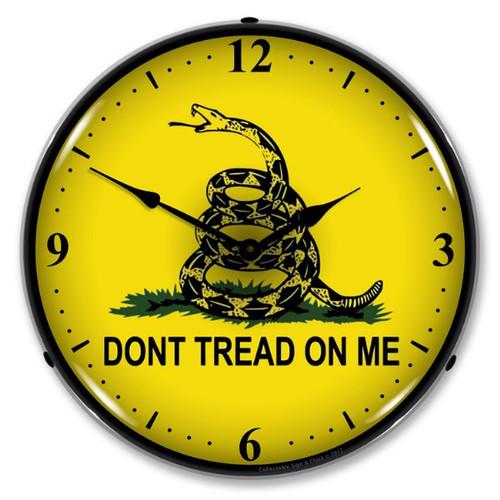Retro Don't Tread On Me Lighted Wall Clock