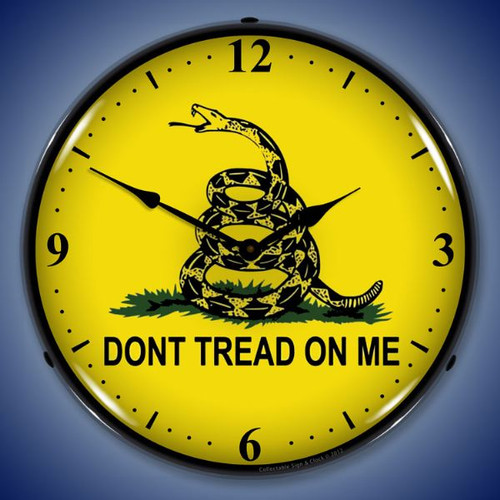 Don't Tread On Me Lighted Wall Clock 14 x 14 Inches