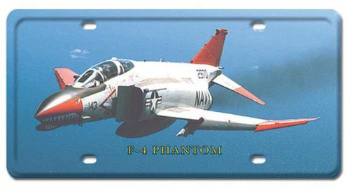 Vintage F-4 Phantom License Plate 6 x 12 Inches