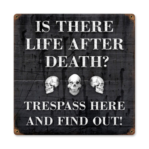 Life After Metal Sign   12 x 12 Inches