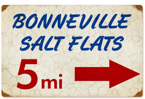 Bonneville Metal Sign 12 x 18 Inches