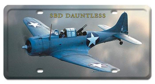 Vintage SBD Dauntless License Plate 6 x 12 Inches
