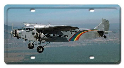 Vintage TRIMOTOR License Plate 6 x 12 Inches