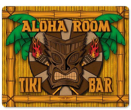 Aloha Room Metal Sign 15 x 12 Inches