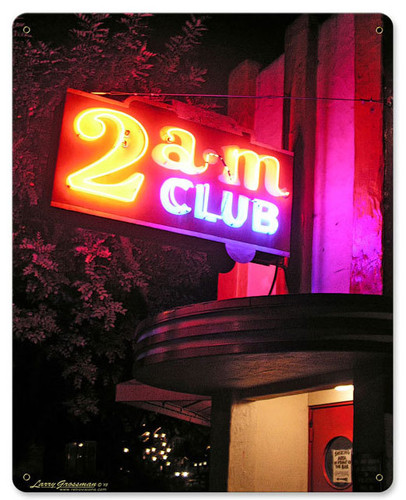 2 AM Club Metal Sign 12 x 15 Inches