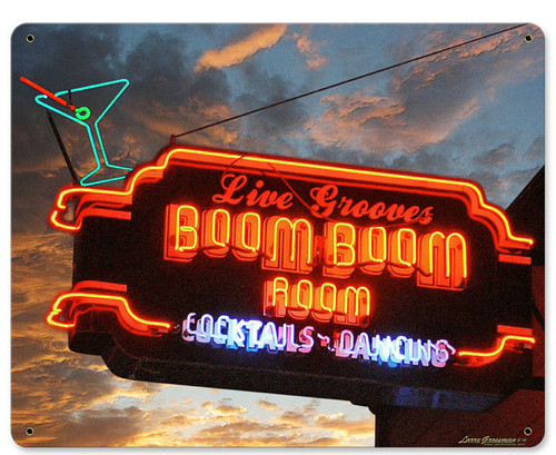 Boom Boom Room Metal Sign 15 x 12 Inches