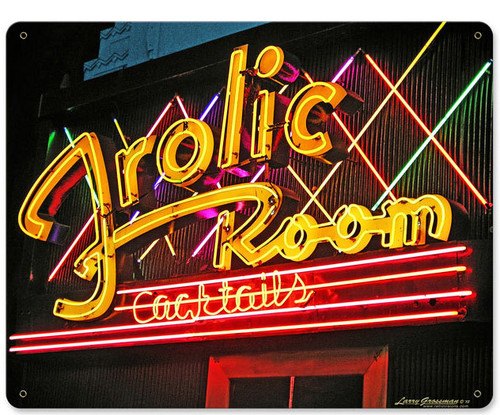 Frolic Room Metal Sign 15 x 12 Inches