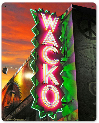 Wacko Metal Sign 12 x 15 Inches