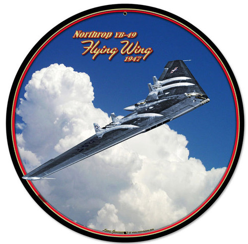 Flying Wing Round Metal Sign 28 x 28 Inches