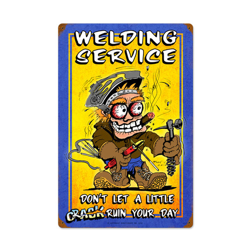 Welding Service Vintage Metal Sign 16 x 24 Inches