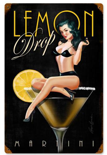 Lemon Drop Vintage Metal Sign 12 x 18 Inches