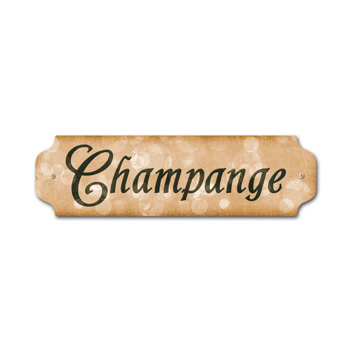 Vintage Champagne Door Push 12 x 3 Inches