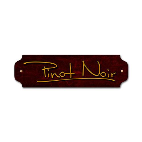 Vintage Pinot Noir Door Push 12 x 3 Inches