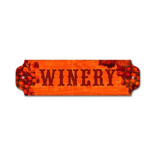 Vintage Winery Door Push 12 x 3 Inches