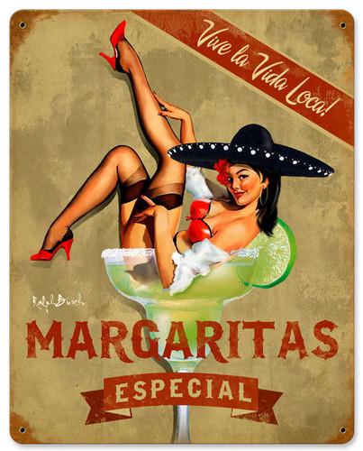 Margarita Especial Vintage Metal Sign 12 x 15 Inches