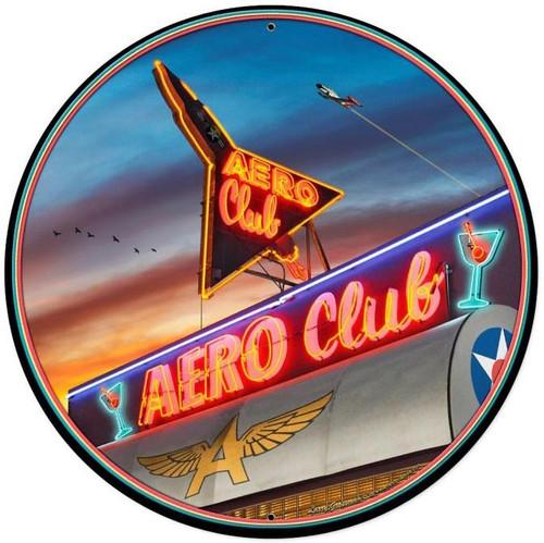 Aero Club Round XL XL Sign 28 x 28 Inches