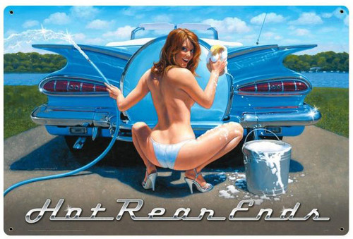 Hot Rear Ends Retro Metal Sign 24 x 36 Inches
