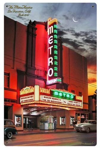 Metro Theatre Metal Sign 24 x 36 Inches