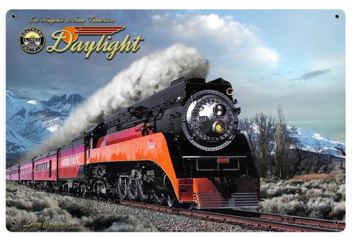 Daylight Winter Train    Metal Sign 18 x 12 Inches