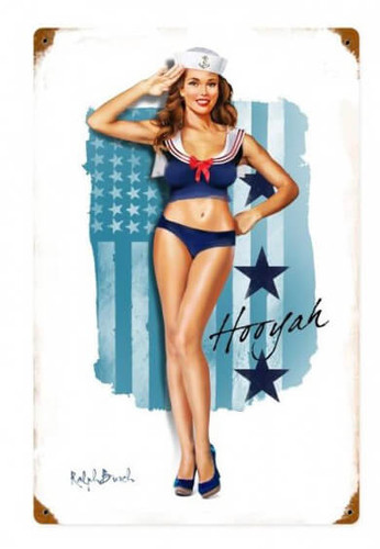 Navy Girl Metal Sign 12 x 18 Inches