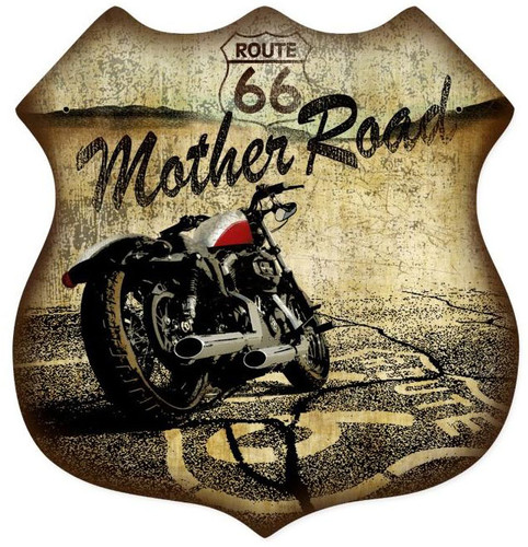 Route 66 Shield Metal Sign 15 x 15 Inches