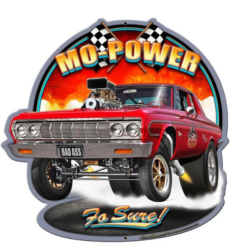 Mo Power Custom Metal Shape 18 x 18 Inches