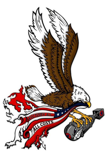 Bald Eagle Bomb Custom Shape Metal  Sign 24 x 17 Inches