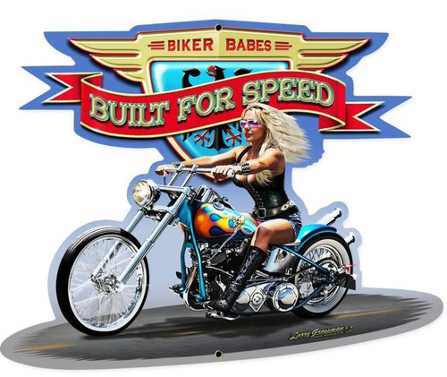 Built For Speed Custom Metal Shape Sign 28 x 21 Inches