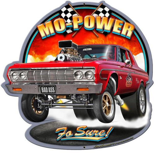 Mo Power Custom Metal Shape Sign 28 x 28 Inches