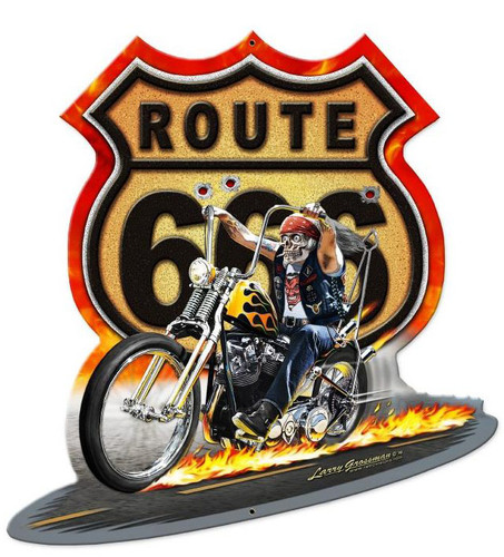 Route 666 Metal Sign 27 x 28 Inches