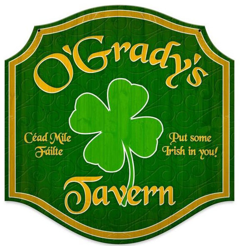Irish Tavern Metal Sign - Personalized  20 x 20 Inches