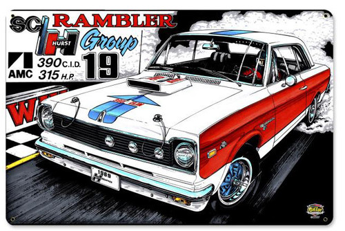 The Rambler Metal Sign 18 x 12 Inches