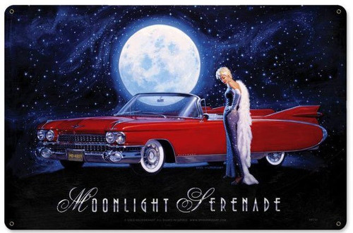 Moonlight Serenade Metal Sign 18 x 12 Inches