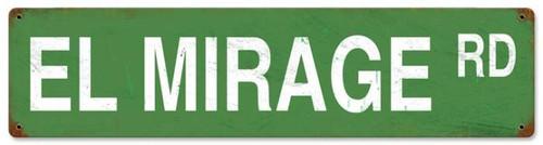 Retro El Mirage Road Metal Sign 20 x 5 Inches