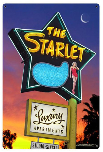 The Starlet Metal Sign 24 x 36 Inches