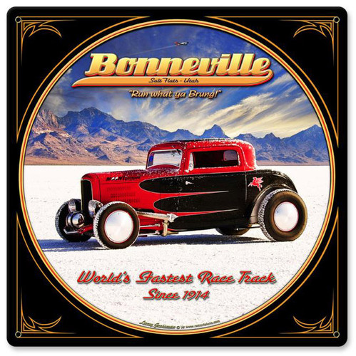 Bonneville Metal Sign 12 x 12 Inches
