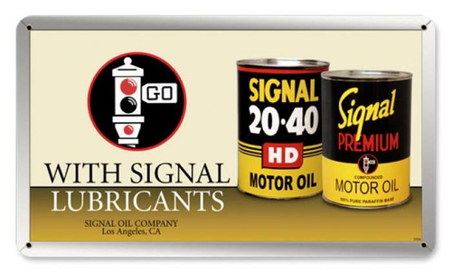 Retro Signal Oil Can Metal Sign  14 x 8 Inches