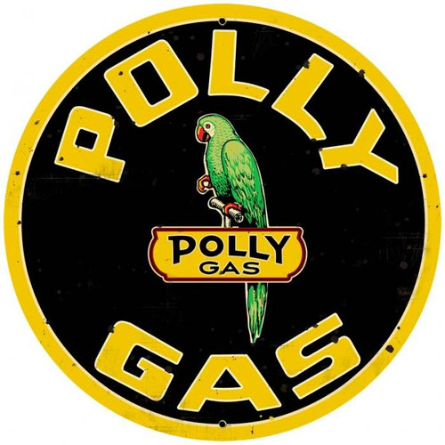 Retro Polly Gas Metal Sign 28 x 28 Inches