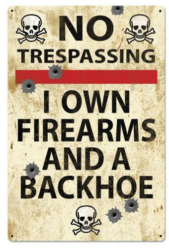 No Trespassing Retro Metal Sign 24 x 36 Inches