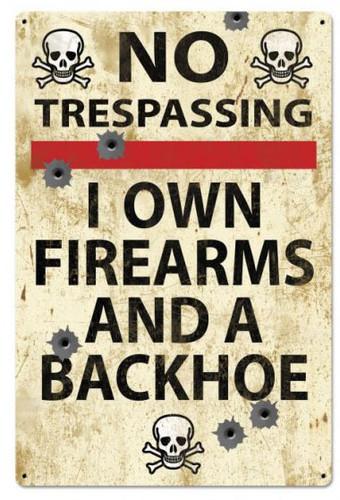 No Trespassing Retro Metal Sign 24 x 36 Inches