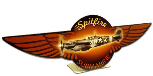 Spitfire  Table Topper Metal Sign 12 x 4 Inches