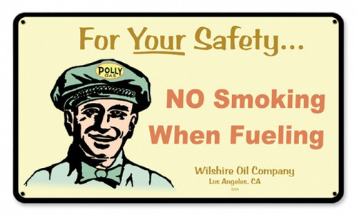Vintage Polly Gas Attendant Metal Sign 14 x 8 Inches
