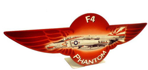 F4 Phantom  Table Topper Metal Sign 12 x 4 Inches