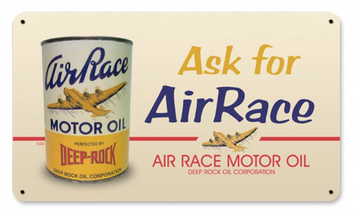 Vintage Air Race Oil Metal Sign 14 x 8 Inches