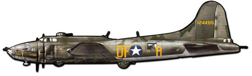 B17 Flying Fortress Custom Shape  Metal Sign 42 x 13 Inches