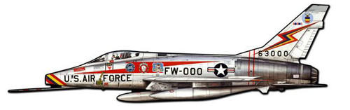 Super Sabre Custom Shape  Metal Sign 42 x 13 Inches