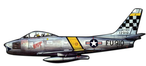 F86 Sabre Custom Shape  Metal Sign 42 x 17 Inches