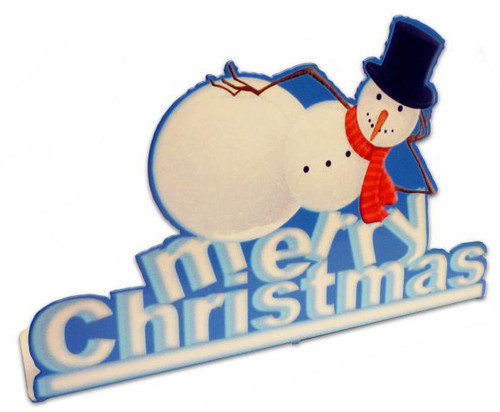 Snowman  Table Topper 9 x 6 Inches
