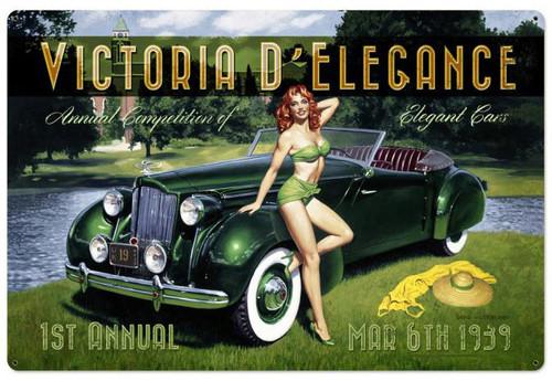 Victoria D Elegance Metal Sign 36 x 24 Inches