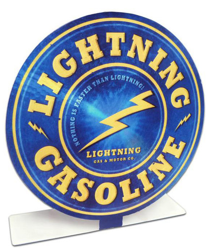 Retro Lightening Gas Table Topper  8 x 8 Inches